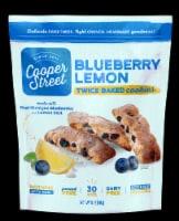Cooper Street Lemon Blueberry Twice Baked Cookies - 5 oz