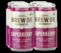 Brew Dr. Kombucha Organic Superberry Raspberry Blueberry Oolong Tea