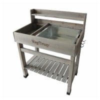 Deluxe Potting Table Gray Wash