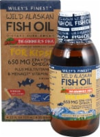 Wiley's Finest Natural Strawberry Watermelon Flavored Wild Alaskan Fish Oil for Kids