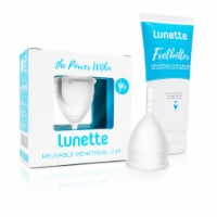 Lunette Menstrual Cup Clear Model 1 with BONUS FREE Cup Cleanser - Cup: Mod1 Wash: 3.4 Fl Oz