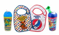 Grateful Dead Official license, BPA Free, Sippy & Straw Cup & 2 Bib Feeder Pack by Daphyl's - 1