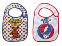 Grateful Dead, officially licensed, extra soft, side Velcro closure, bibs 2 pack by Daphyl's - 1