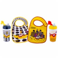 The Beatles Officially licensed, 100% BPA Free, 2 Sippy Cup and 2 Bib Feeder Pack by Daphyl's