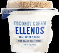 Ellenos Pike Place Collection Coconut Cream Real Greek Yogurt - 7 oz