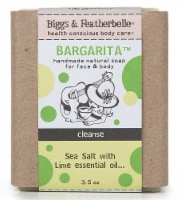 Biggs & Featherbelle Bargarita Natural Bar Soap Sea Salt with Lime