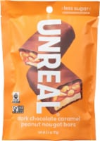 Unreal® Dark Chocolate Caramel Peanut Nougat Bars - 3.4 oz