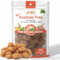 LuvChew Rawhide Free Knotted Bones with Peanut Butter Flavor - Mini