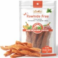 LuvChew Oven Baked Soft Puffed Chicken Twists 20pcs/pack, Rawhide Free, Gluten Free - Medium 20pcs/pack