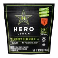 Hero Clean 1699941 Juniper Scent Laundry Detergent Pod, 25 Per Pack - Case of 6 - 1