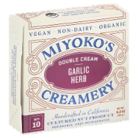 Miyoko's Creamery Double Cream Garlic Herb Cheese - 6.5 oz