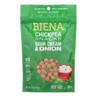 Biena Chickpea Snacks - Sour Cream & Onion - Case of 8 - 5 oz. - Case of 8 - 5 OZ each