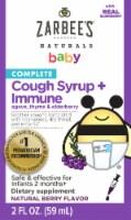 Zarbee's Baby Cough and Immune Elderberry Flavor Liquid Supplement