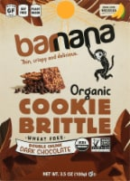 Barnana Organic Double Chunk Dark Chocolate Banana Cookie Brittle Snack
