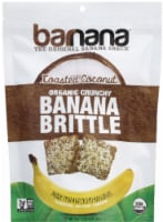 Barnana Organic Crunchy The Original Toasted Coconut Banana Brittle Snack
