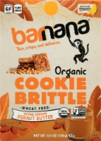 Barnana Organic Crunchy The Original Peanut Butter Banana Brittle Snack