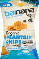 Barnana Organic Ridged Sea Salt & Vinegar Plantain Chips
