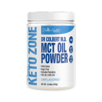 Divine Health Keto Zone Unflavored MCT Oil Protein Powder