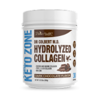 Divine Health Keto Zone Dark Chocolate Hydrolyzed Collagen Protein Powder