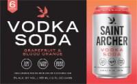 Saint Archer Brewing Company Grapefruit and Blood Orange Vodka Soda - 6 cans / 12 fl oz