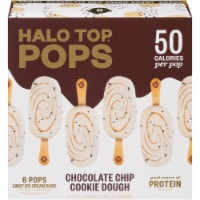 Halo Top Pops Chocolate Chip Cookie Dough Ice Cream Pops 6 Count