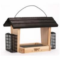 Natures Way Bird Products 6 qt Hopper Feeder with Suet Cages, Cedar