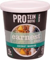 Earnest Eats  Protein Probiotic Oatmeal Cup Gluten Free   Coconut Warrior