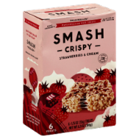 Smashmallow Crispy Strawberries & Cream Marshmallow Rice Treats 6 Count