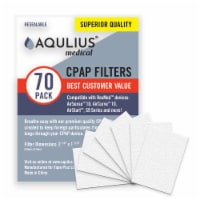 Disposable CPAP Filters (70 Pack - ONE Year Supply) - Fits All ResMed Air 10, Aircurve 10, S9 - 70pk