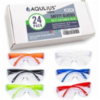 24 Pack of Kids Safety Glasses (24 Protective Goggles 6 Colors) Crystal Clear Eye Protection - 24pk