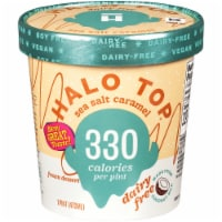Halo Top Dairy-Free Soy-Free Vegan Sea Salt Caramel Frozen Dessert