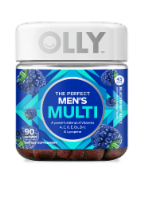 Olly The Perfect Men's Multi Blackberry Blitz Dietary Suplement Gummies