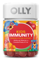 Olly Kids Immunity Dietary Supplement Gummies 50 Count