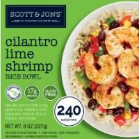 Cheating Gourmet Cilantro Lime Shrimp Rice Bowl