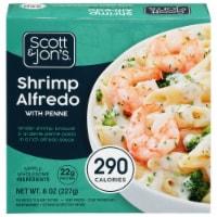 Cheating Gourmet Shrimp Alfredo Pasta Bowl