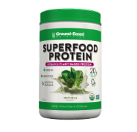 Ground-Based Nutrition Superfood Protein Organic Natural Unflavored Plant-Based Protein Powder