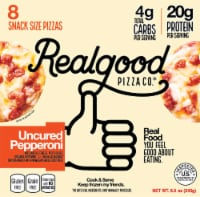 Real Good Pizza Co. Uncured Pepperoni Snack Size Pizzas 8 Count