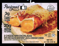The Real Good Food Company Low Carb Cheese Enchiladas - 4.7 oz