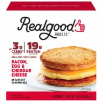 Realgood Bacon Egg & Cheese Breakfast Sandwich 4 Count