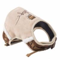 Pet Life HA20BRSM Touchdog Tough-Boutique Adjustable Fashion Dog Harness, Brown - Small - 1