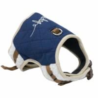 Pet Life HA20DBLMD Touchdog Tough-Boutique Adjustable Fashion Dog Harness, Dark Blue - Medium - 1