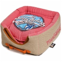 Pet Life PB31PKLG Touchdog Convertible and Reversible Squared 2-in-1 Dog Bed - 1