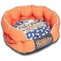 Pet Life PB62OGBLLG Touchdog Rabbit-Spotted Premium Rounded Dog Bed, Large - 1
