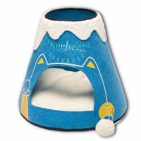Touchcat PB69BLLG Molten Lava Designer Triangular Cat House, Blue & White - One Size