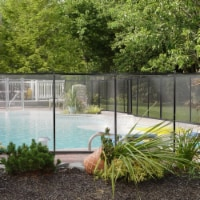 4' x 12ft Swimming Pool Fence Water Safety Barrier Removal Able Above In-Ground - 1 Unit