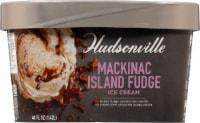 Hudsonville Premium MacKinac Island Fudge Ice Cream - 48 fl oz
