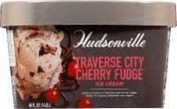 Hudsonville Premium Traverse City Cherry Fudge Ice Cream - 48 fl oz
