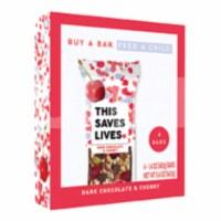 This Saves Lives Dark Chocolate & Cherry Bars - 4 ct / 1.4 oz