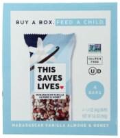This Saves Lives Madagascar Vanilla Almond & Honey Bars - 4 ct / 1.4 oz