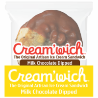 Cream'Wich The Original Milk Choccolate Dipped Ice Cream Sandwich